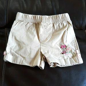 Minnie mouse khaki shorts